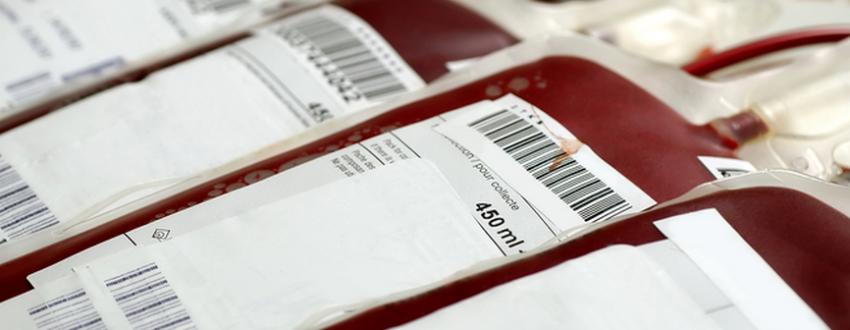 Пакеты с кровью