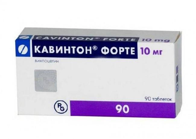 Упаковка таблеток Кавинтон форте