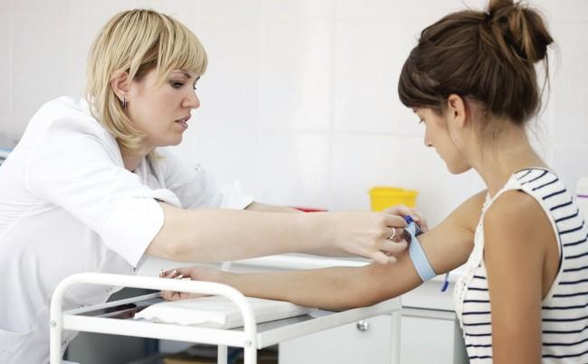 Взятие анализа крови
