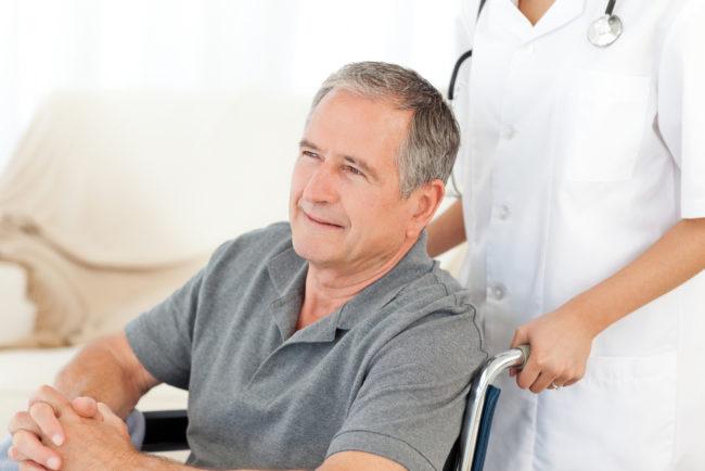 Пациент на коляске