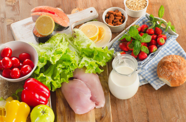Овощи, мясо, рыба, молоко